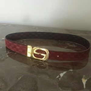 Gucci suede reversible belt  XS -S